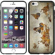 Grunge World Map For Iphone 6 Plus 5.5 Inch Case Cover