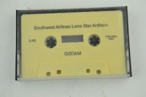 Southwest Airlines Lone Star Anthem 2:45 GSD&M February 1991 Music Cassette Tape