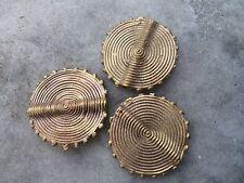 Bastel- & Künstlerbedarf 6stk.herrlich Verzierte Afrikanische Ashanti Bronzeperlen M.rankendesign-ca.12mm