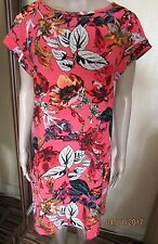 SIZE 12 RED FLORAL LINED DRESS NEXT