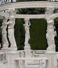 Gartenlaube aus Naturstein, Pavillon, Gartenhaus, Gartenpavillon, Marmorpavillon