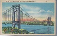 George Washington Bridge and Hudson River New York City Postcard