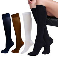 Mode 1 paar Weich Kompressionsstrümpfe Stützstrümpfe Knie-Strümpfe Socken  Pro