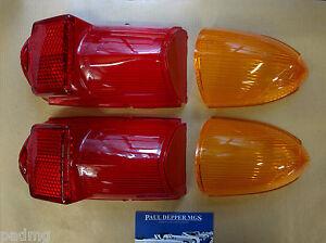 2 x MG MGB GT Rear Indicator & Brake Lamp Lense Set (Lucas) (57H5354/7)