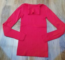 Boden Ladies Roll Neck Cotton mix red Jumper. Size XS KO024 Excellent condition
