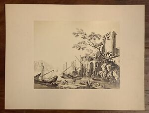 "Giacomo Brogi 1822-1881 Art Work Photography Landscape 8x10.5"" Rare Clean Coll"