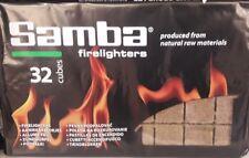 Allume feu, 32 cubes allume feu, cheminée, barbecue, poêle à charbon, cube