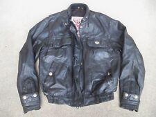 Vtg Hein Gericke Leather Motorcycle Racer Riding Cafe Men's Jacket Coat Size 38