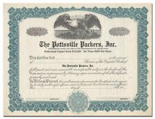Pottsville Packers, Inc. Stock Certificate (Basketball)
