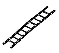 HO Scale Steel Ladder (4pcs) - Scale Structures LTD #2089