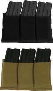 Ammo Pouch Triple Mag Elastic Retention Pouch Lightweight Carrier
