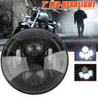 """7"""" Schwarz Hi/lo LED-Projektion Scheinwerfer für Harley Jeep"""