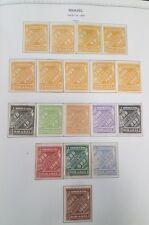 BRAZIL 1843-1969, Minkus Specialty album, all mint hinged, VF, Scott $6,021.00