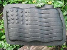 "Flag stepping stone plastic mold 12"" x 7""W x 1.75"""
