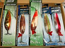 5 X JAXON REFLEX HOLO SELECT 28g Fishing Lure deep Spinners long casting spoon