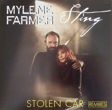 """Mylène Farmer / Sting 12"""" Stolen Car (Remixes) - France (M/M - Scellé / Sealed)"""