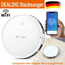 DEALDIG Saugroboter Staubsauger WiFi APP Kompatibel Amazon Alexa Google Home