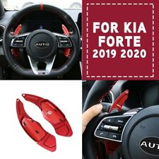 Red Inner Steering Wheel Shift Paddle Shifter Cover Trim For 2019 2020 Kia Forte