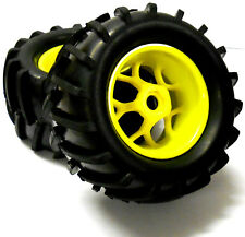 83005 1/8 Scale Off Road RC Truck Wheels and Tyres x 4 Yellow