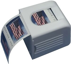 100 USPS Forever Stamps US Flag 2019 Stamp 1 Roll w/ Sturdy White Dispenser Coil