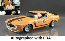 ACME #15 Parnelli Jones 70 Boss 302 Ford Mustang Diecast Car 1:18 SIGNED w/ COA