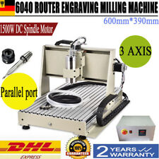 6040 3 Axis Cnc Router Engraver Metalworking Milling Carving Machine 1.5Kw&Mach3