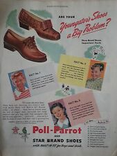 1944 Poll Parrot Youngster Shoes Star Brand Original Print Ad