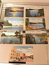 35 Antique Postcards Of Places In Coeur D'Alene Idaho 7 Different x 5 Each Neat