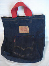 VTG 1980's Levi's Denim Tote Bag 501 Jeans by Now Design San Francisco - L1