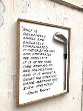 Wood Golf Sign/ Golf Decor/ Golf Gift Ideas