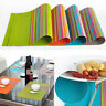 1/4Pcs Non-Slip PVC Weave Bowl Placemats Insulation Dining Pad Western Table Mat