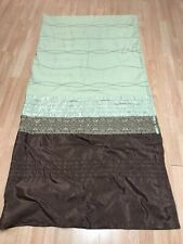 Shower Curtain Kas Australia Sequined Embellished Fabric Brown/Green 72 x 72