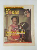 RARE 1983 NBA Today Newspaper Magazine Basketball DR J Sixers Champs Vtg 80s