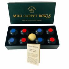 Townsend Croquet Carpet Bowls Banda Indoor Game Black x8 Vintage 1991 Compolete