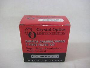 Crystal Optics Limited Edition Digital Camera Video 3 Piece Filter Kit (New)