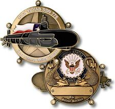 USS Texas Challenge Coin SSN-775 US Navy Nuclear Attack Submarine Ship Boat USN
