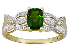 .82 ctw Chrome Diopside Ring 10K yellow & white gold Sz 9