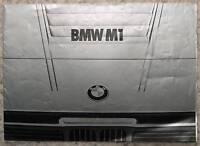 BMW M1 Sports Car Sales Brochure 1978 DUTCH TEXT