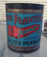 old Planters Mr Peanut 10lb Pennant tin