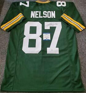 G.B. PACKERS JORDY NELSON AUTOGRAPHED SIGNED JERSEY BECKETT COA