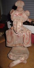 "12"" Mayan Jaina Pottery Figure Well crafted and colors preserved"