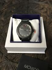 Rare Movado Super Bold Seawolf Diving Divers Watch Vintage look Gray Steel New