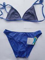 Beau Bikini Femme Bleu Taille 42 Soutien-Gorge Cortina Slip Eté Playa