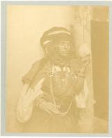 Algérie, Femme arabe de Bou Saâda Vintage albumen print.  Tirage albuminé  1