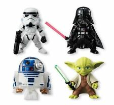 Set 4 Pieces Star Wars Yoda R2-D2 Darth Vader Converge Toy Figure Doll Series 1