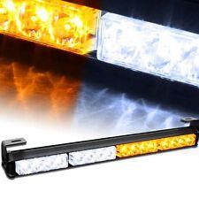 """18"""" 36LED White + Amber Traffic Advisor Emergency Warning Flash Strobe Light Bar"""