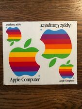 Apple Macintosh Computer Logo Stickers Vintage Rainbow Steve Jobs