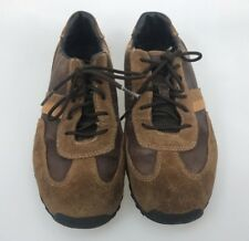Timberland sneakers leather shoes Big Kid boys 4.5 M lace up brown suede