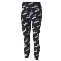 Puma Amplified All Over Print Womens Ladies Fitness Legging Tight Black