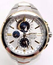 Seiko SSC560 Coutura Solar Chronograph Two Tone Stainless Steel Men's Watch